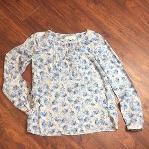Loft floral blouse size small